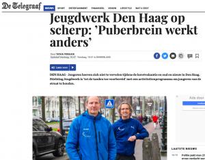 Telegraaf artikel over Jeugdwerk Den Haag activiteitenprogramma